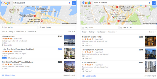 Google now delivers 3 different results for certain queries even with very small variances in the keyword search query
